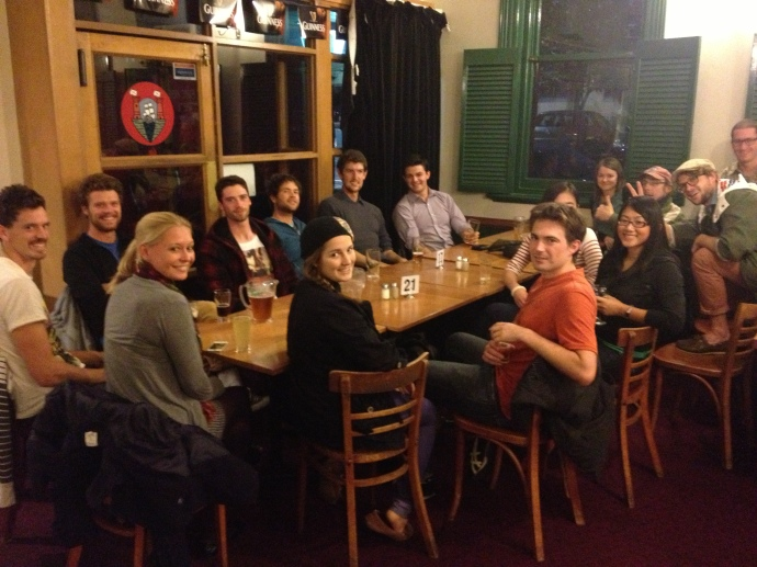 Weekly PEN meetings at the pub.